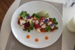Salata caracatita cu gelato de fistic si pesto