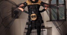 Rochia voal negru
