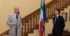 Ambasadorul Diego Brasioli și Vlad Mariș